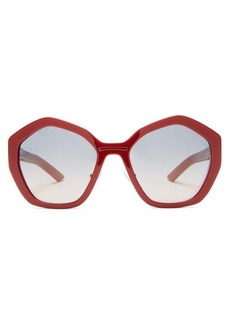 Prada Eyewear Hexagon acetate sunglasses