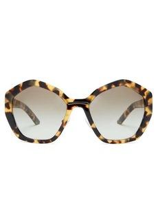 Prada Eyewear Hexagonal acetate sunglasses