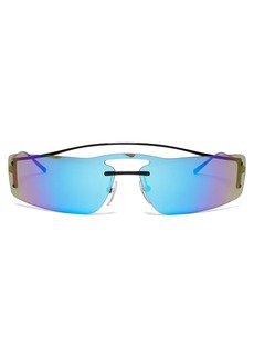 Prada Eyewear Iridescent rectanglular sunglasses