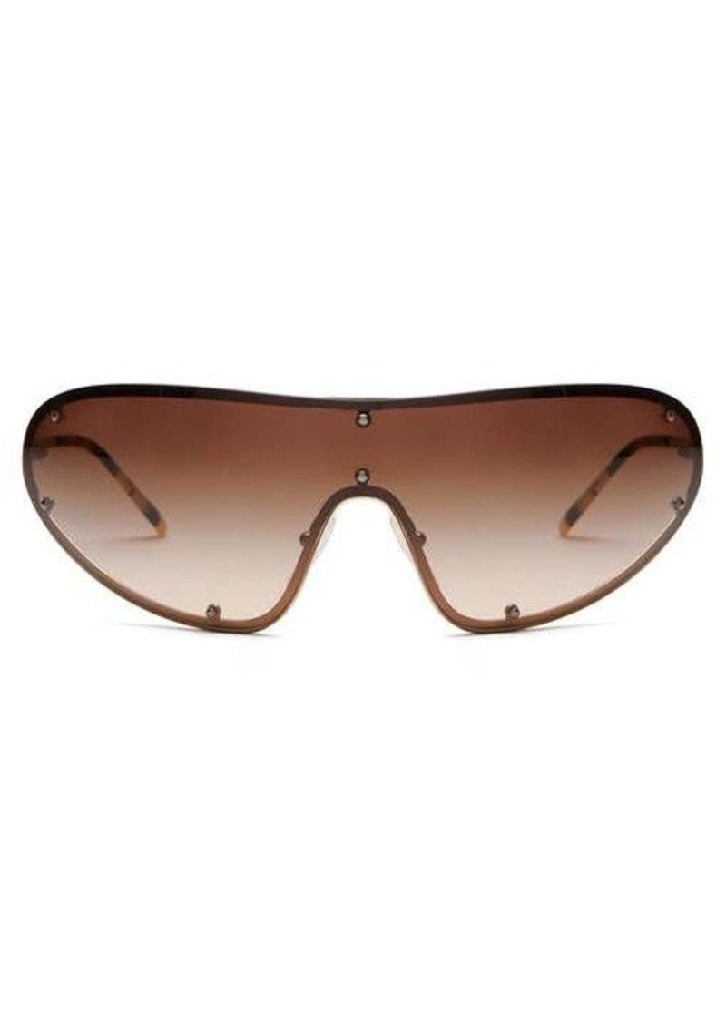 Prada Eyewear Logo-engraved shield metal sunglasses