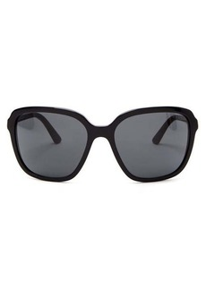 Prada Eyewear Oversized square acetate sunglasses