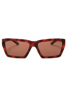 Prada Eyewear Rectangle tortoiseshell acetate sunglasses