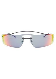 9262457d439cd Prada Eyewear Reflective rectangular-frame sunglasses