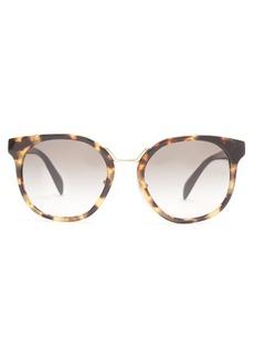 Prada Eyewear Round-frame floral-embellished acetate sunglasses