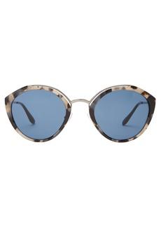 Prada Eyewear Round-frame tortoiseshell sunglasses