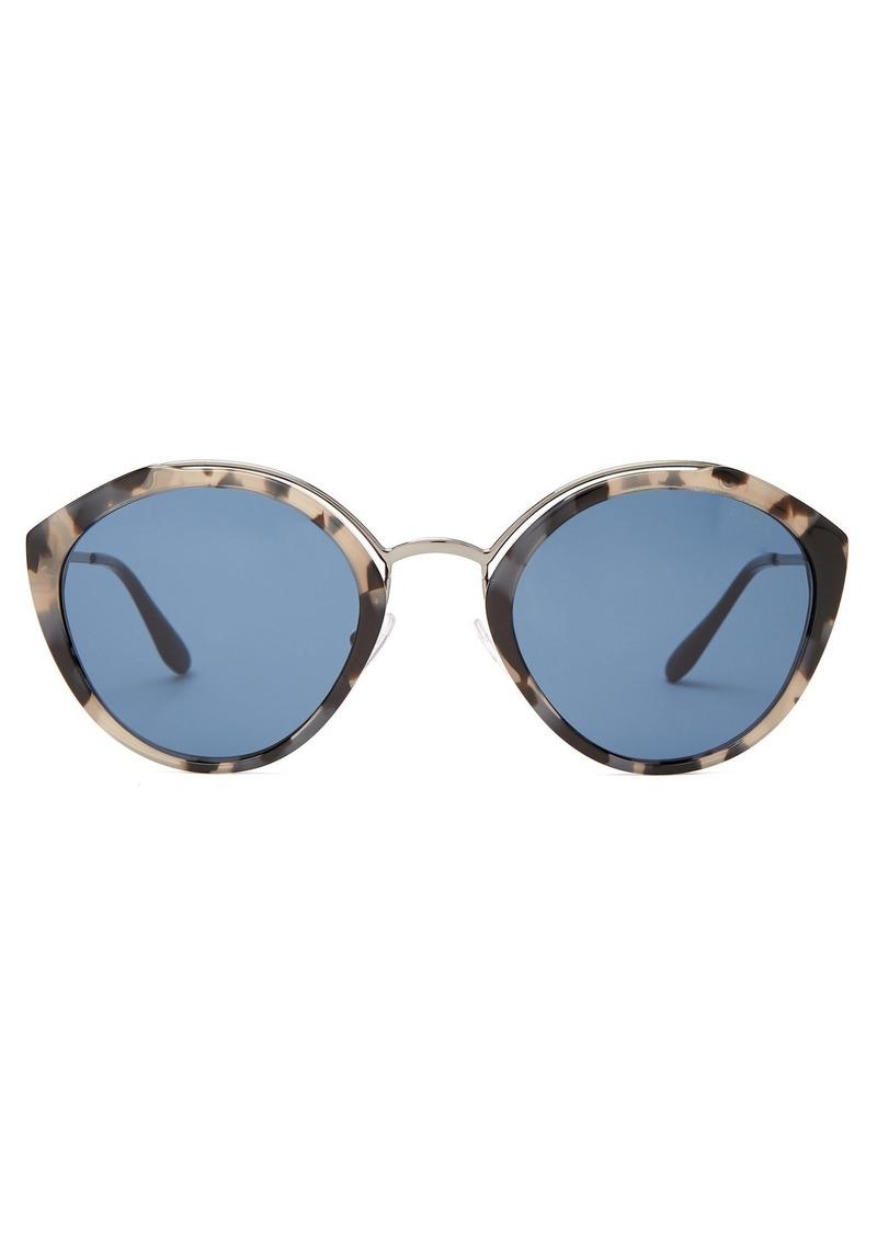 c6b635de28 SALE! Prada Prada Eyewear Round-frame tortoiseshell sunglasses
