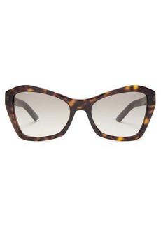 Prada Eyewear Square cat-eye tortoiseshell-acetate sunglasses