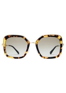 Prada Eyewear Square-frame tortoiseshell sunglasses