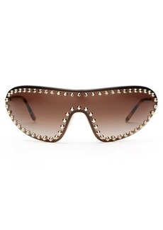 Prada Eyewear Studded shield metal sunglasses