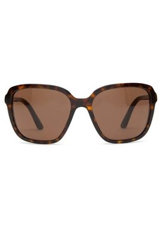 Prada Eyewear Tortoiseshell-effect square sunglasses