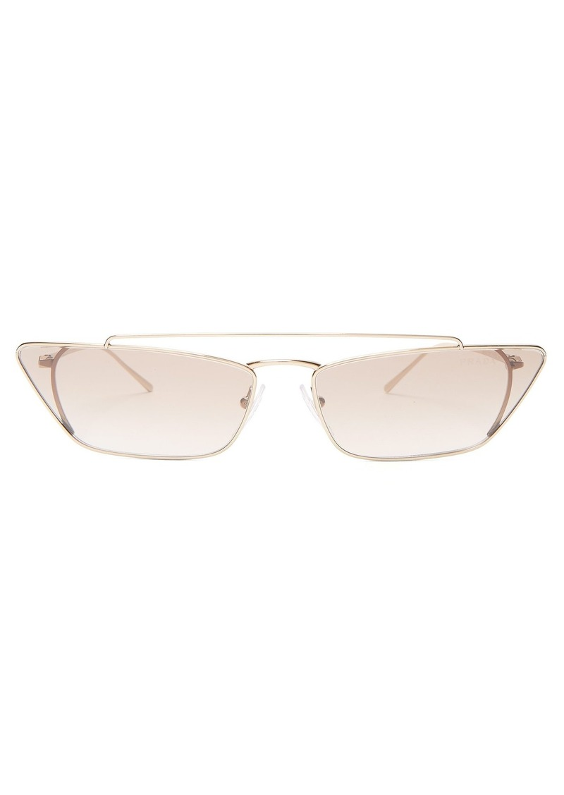 873d31f3f56a 1dea1 d5005; australia prada eyewear ultravox metal cat eye sunglasses  24fb9 539fe