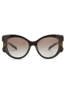Prada Eyewear Velvet-covered cat-eye sunglasses