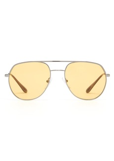 Prada Eyewear Yellow tinted aviator sunglasses