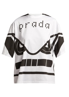Prada Face-print cotton T-shirt
