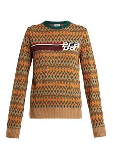 Prada Fair Isle wool-blend sweater