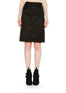 Prada Faux-Wrap Nylon Skirt