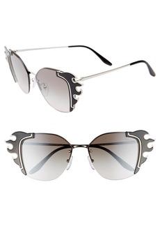 e1434e7994 Prada Prada 52mm Embellished Round Rimless Sunglasses