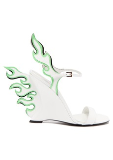 Prada Flame patent-leather sandals