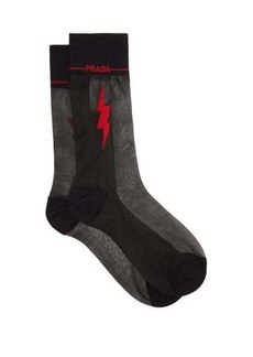 Prada Flash intarsia-motif sheer socks