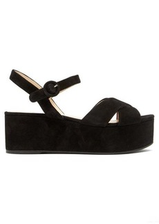 Prada Flatform suede sandals