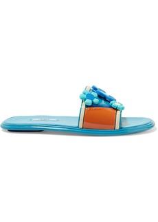 Prada Floral-appliquéd rubber slides