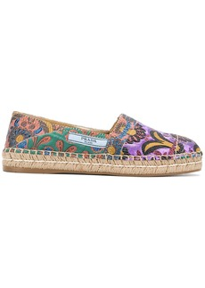 Prada floral embroidered espadrilles - Multicolour