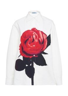 Prada Floral-Print Cotton-Poplin Shirt