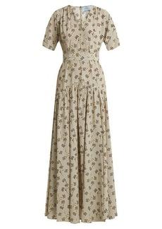 Prada Floral-print silk gown