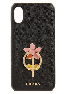 Prada Flower Ring Saffiano Leather iPhone 11 Pro Max Case