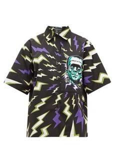 Prada Frankenstein-print cotton-poplin shirt