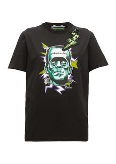 Prada Frankenstein-print crystal-embellished T-shirt