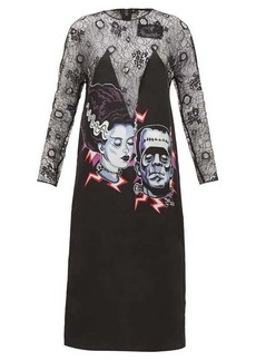 Prada Frankenstein-print lace dress