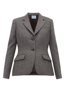 Prada Galles Mouline wool-blend blazer