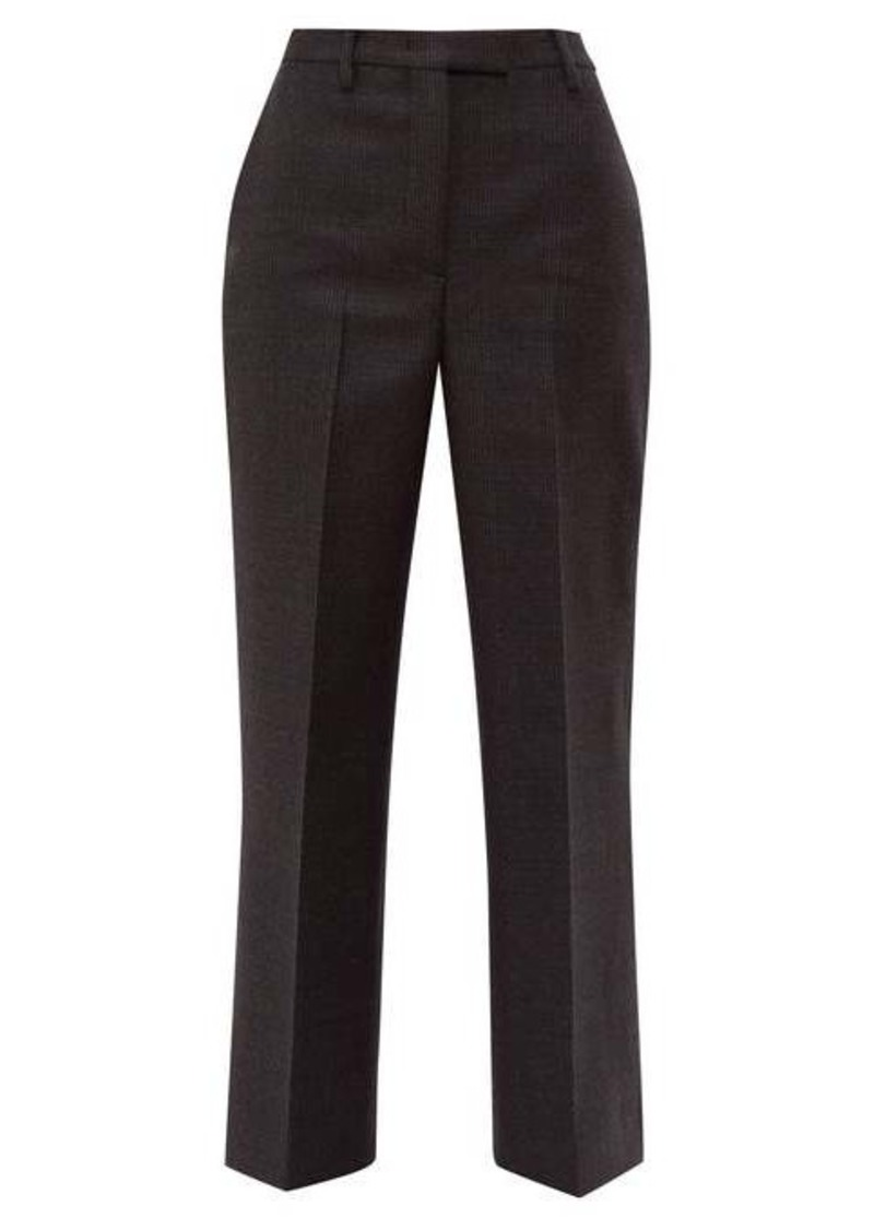 Prada Galles Mouline wool-blend trousers