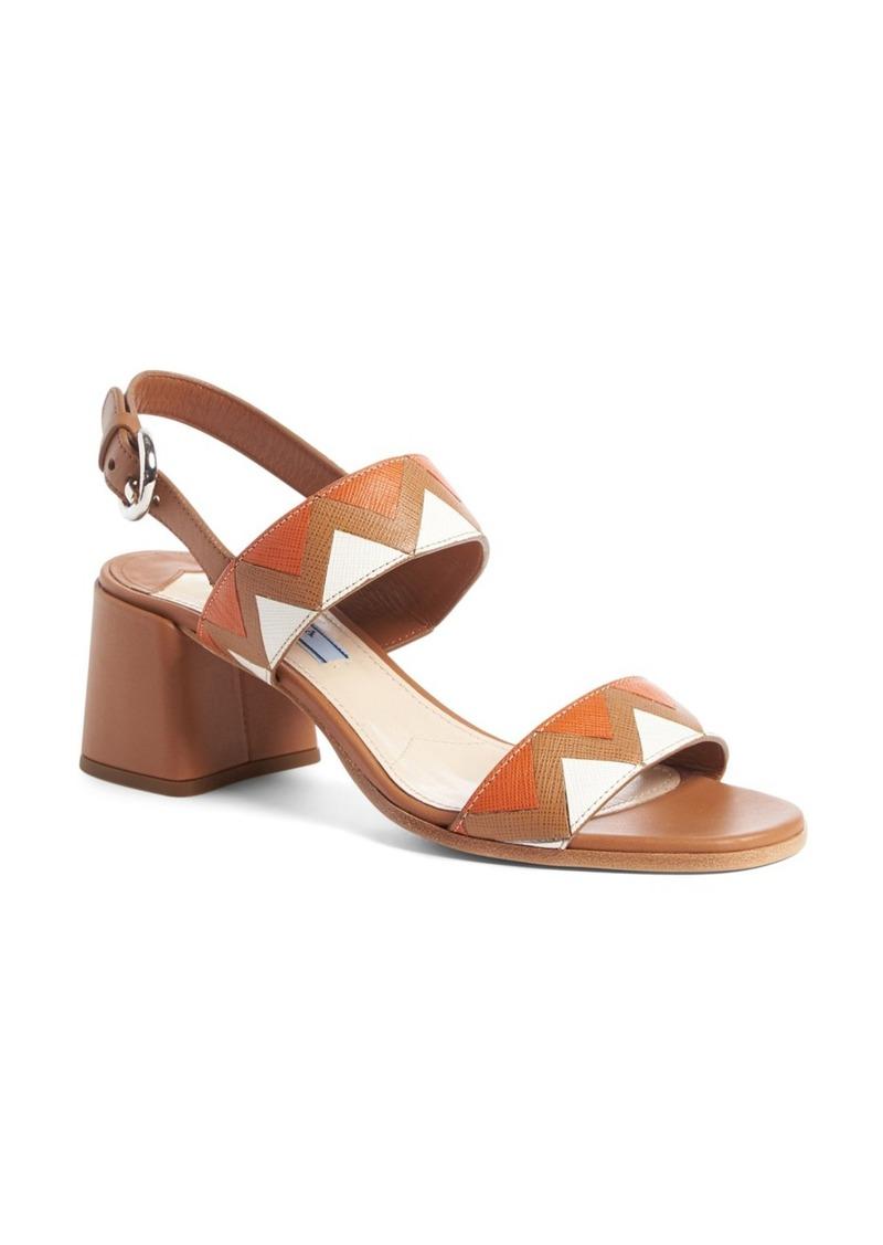 6a1f78b8d7d Prada Prada Geometric Block Heel Slingback Sandal (Women)