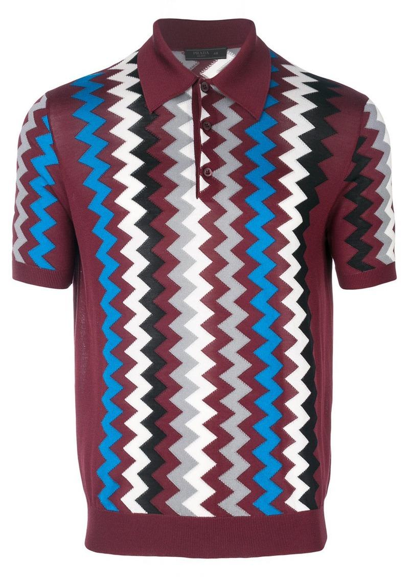 ce63c236ec3bc Prada geometric print polo shirt