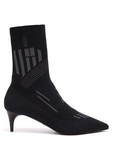 Prada Geometric stretch-knit ankle boots