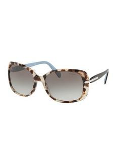 Prada Gradient Rectangle Plastic Sunglasses