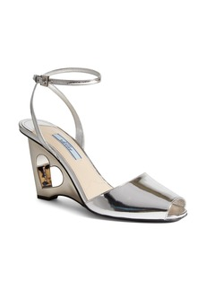 Prada Heart Cutout Wedge Sandal (Women)