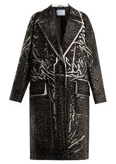 Prada Herringbone-print cotton coat