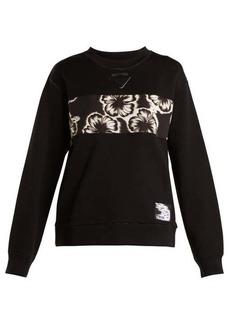Prada Hibiscus-appliqué sweatshirt