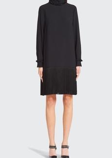 Prada High-Neck Fringe Dress