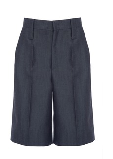 Prada High-Rise Knee-Length Shorts