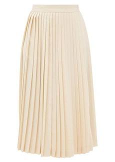 Prada High-rise knife-pleated wrap skirt