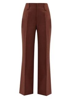 Prada High-rise mohair-blend straight-leg trousers
