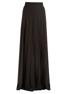 Prada High-rise pleated crepe maxi skirt