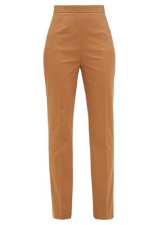 Prada High-rise stretch-cotton gabardine trousers