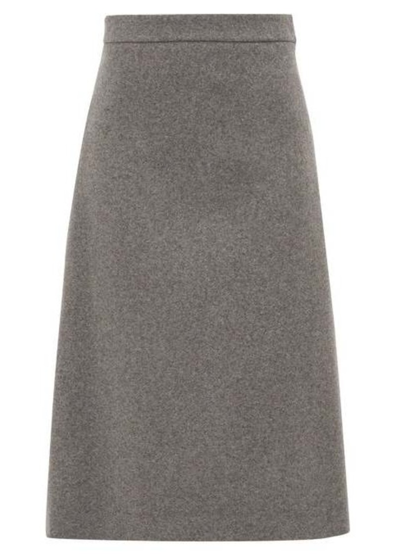 Prada High-rise wool midi skirt