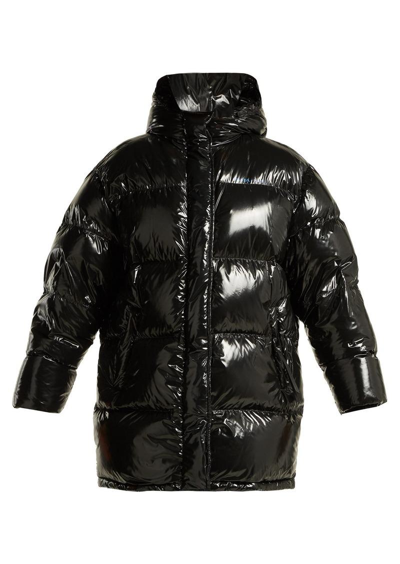 12cfcea37 High-shine belted down-filled coat