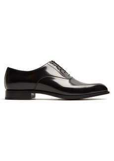 Prada High-shine leather oxford shoes